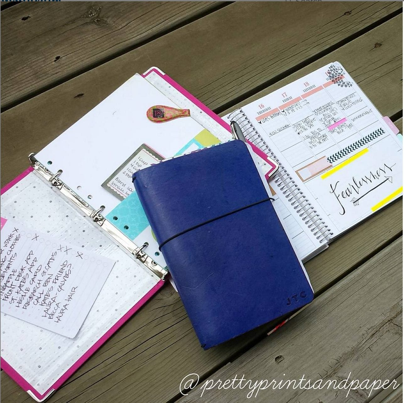 I've experimented with so many types of planners over the years - ringed, spiral bound, and now the Traveler's Notebook.
