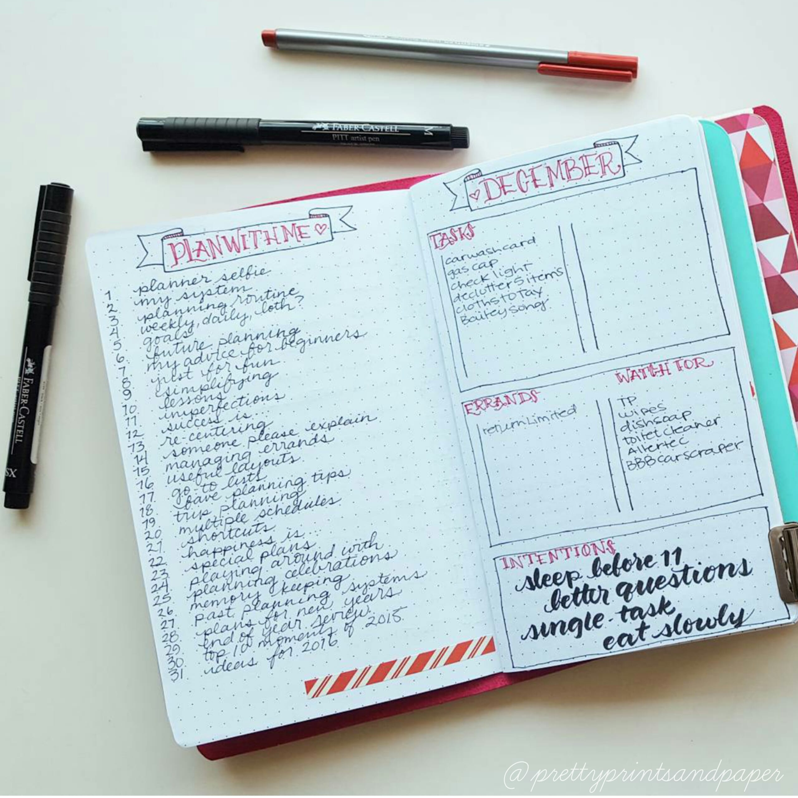 Trying to keep track of monthly tasks? Try a organizing your bullet journal this way // www.prettyprintsandpaper.com