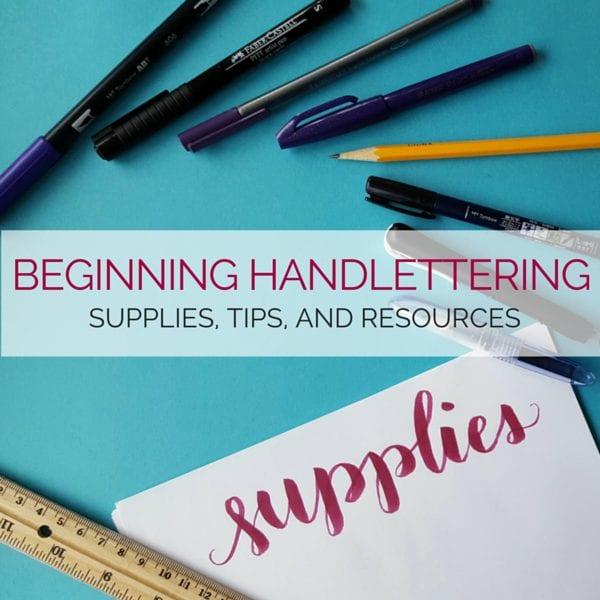 Beginning Handlettering