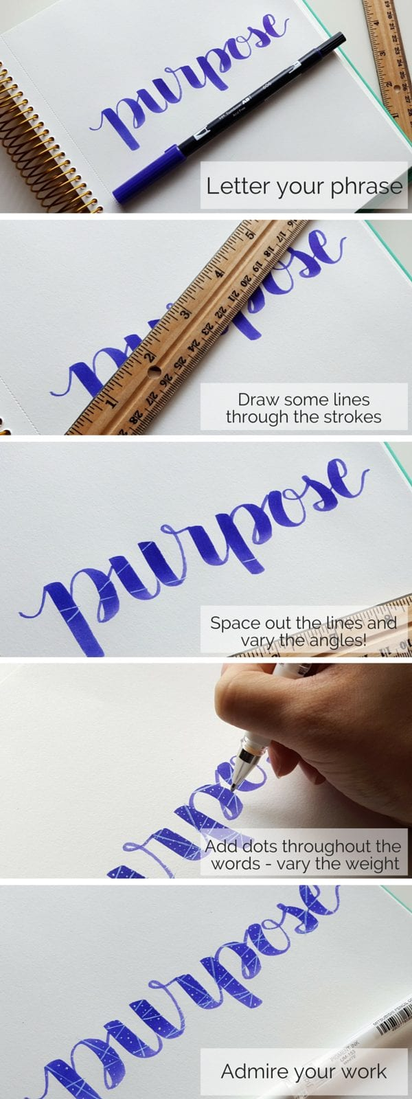 Add flair to your lettering with a quick and subtle Galaxy Effect // www.prettyprintsandpaper.com