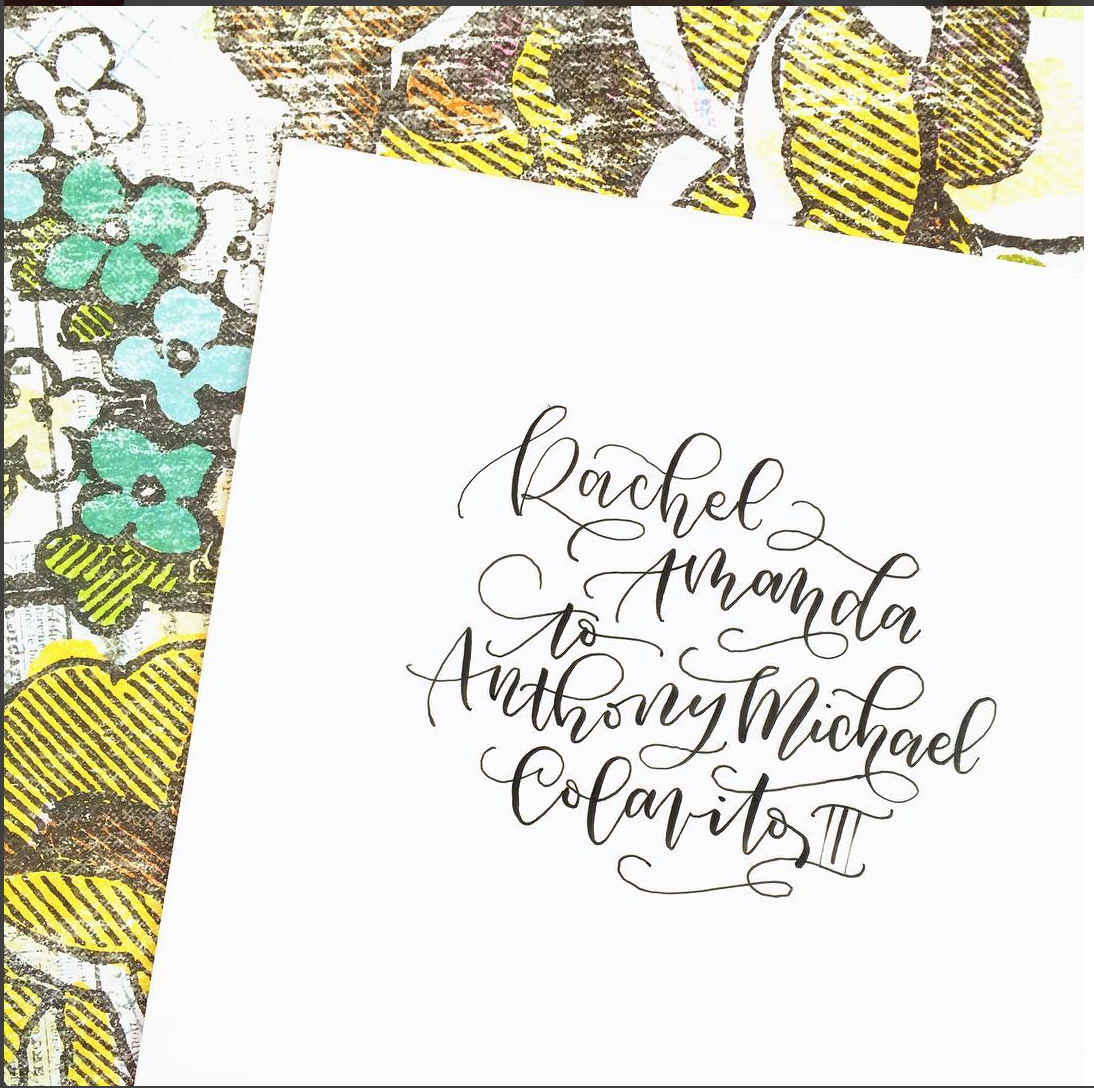 To help learn and practice calligraphy flourishes, it helps to study those of awesome artists like @AmandaArneill // www.prettyprintsandpaper.com