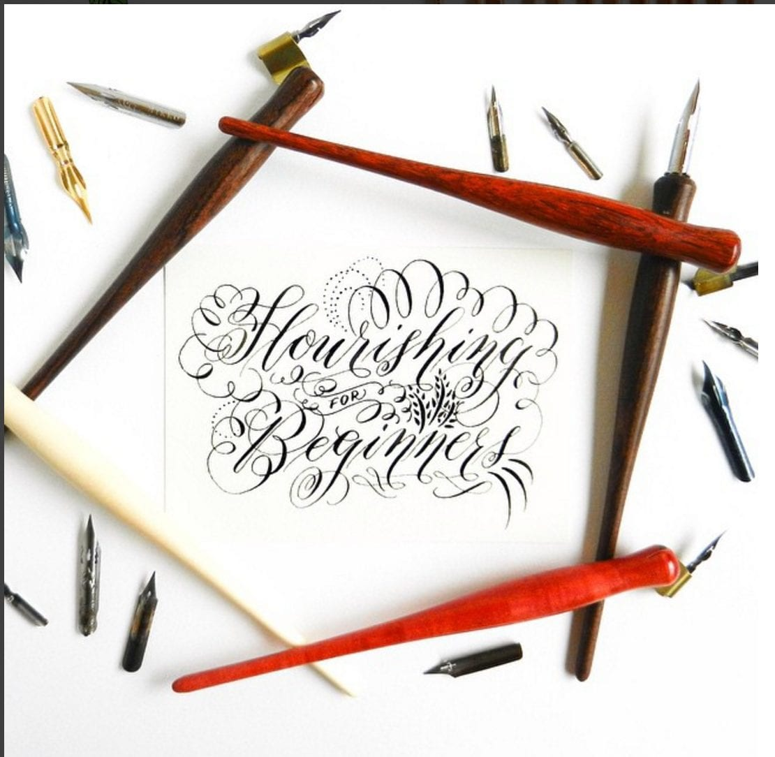 Admiring other artists' work helps learn calligraphy flourishing - like @thepostmansknock // www.prettyprintsandpaper.com