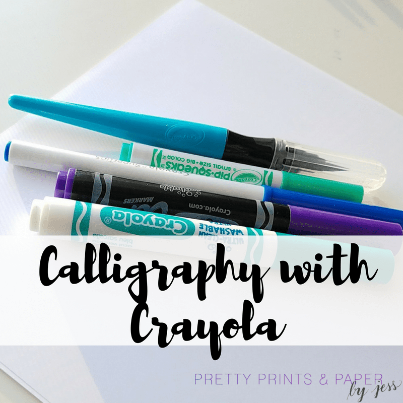 I love lettering and calligraphy with Crayola markers - but how do you do it and what do you start with?