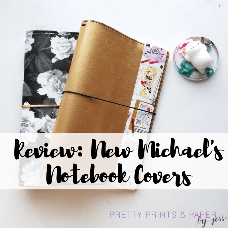 my first impressions and comparisons of the new michael's notebook covers!