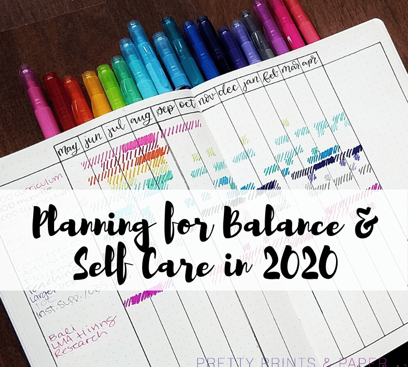 Planning for Balance Self Care 2020